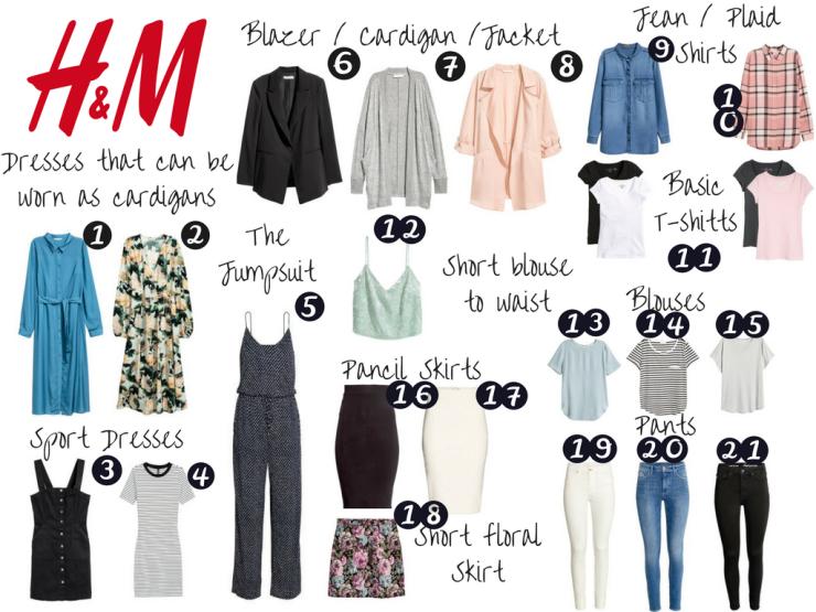 H&M Store - Spring - Summer - Capsule Wardrobe