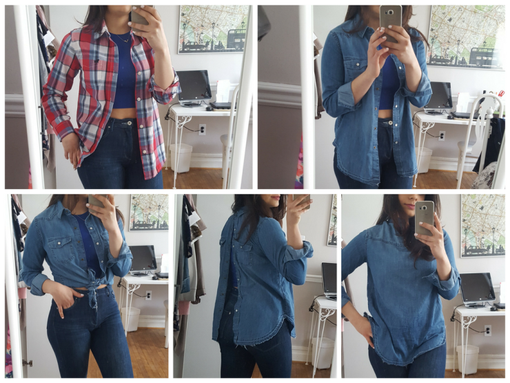 Plaid Jean Shirt how to wear it - capsule