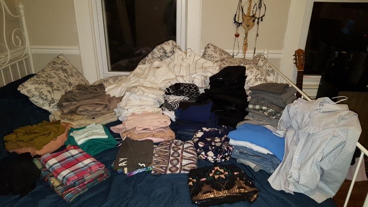 Sort - Organize - colors - clothes - capsule